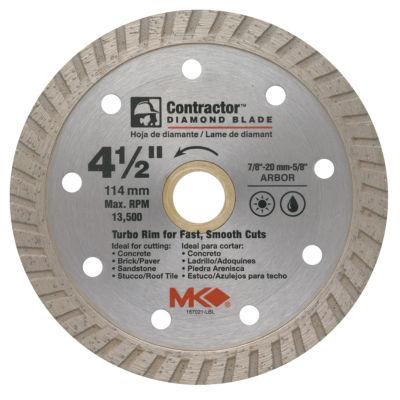 "Mk Diamond 167021 4-1/2"" Contractor Diamond Blade"