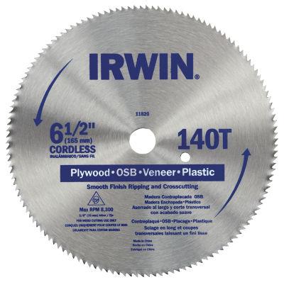 "Irwin 11820Zr 6-1/2"" 140 Tooth Cutting Saw Blade"