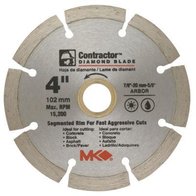 """Mk Diamond 167011 4"""" Contractorª Diamond Blade"""""""