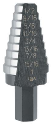 "Irwin 10220 9/16"" To 1"" #20 Shank Hole Enlarging Step Drill Bit"