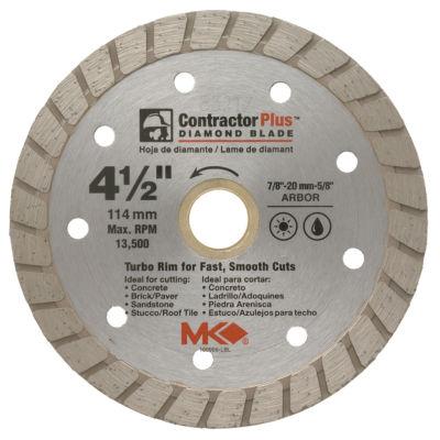 """MK Diamond 166999 4-1/2"""" Contractor Plus Diamond Blade"""