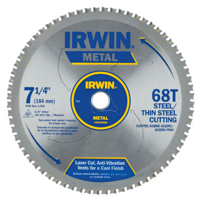 "Irwin 4935560 7-1/4"" 68 Tpi Metal Cutting Blade"