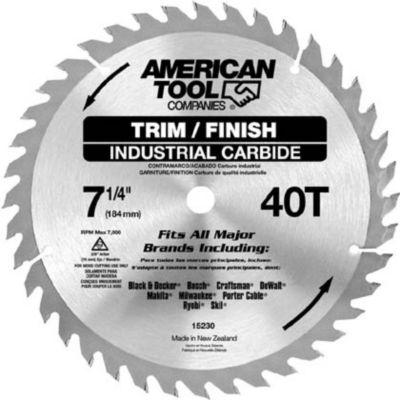 "Irwin 15230Zr 7-1/4"" 40T Trim & Finish Circular Saw Blade"