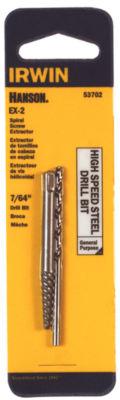 """Irwin Hanson 53702 7/64"""" Spiral Screw Extractor & Drill Bit Set"""