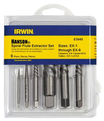 Irwin 53545 Spiral Flute Screw Extractors Set 6 Count