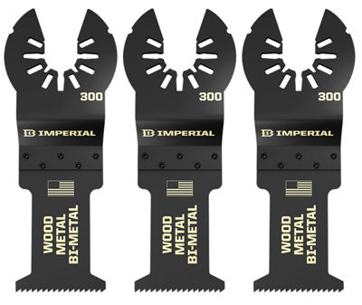 "Imperial Blades Llc Iboa300-3 1-1/4"" One Fit Wood With Nails Bm Blade 3 Count"