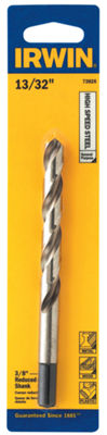 "Irwin 73826 13/32"" High Speed Steel Reduced Length Drill Bit"