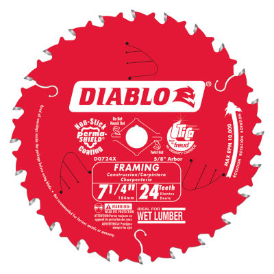 Diablo D0724X 7-1/4IN Saw Blade With 24 Teeth
