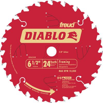 "Diablo D0624X 6-1/2"" 24T Diabloª Circular Saw Framing Blade"""