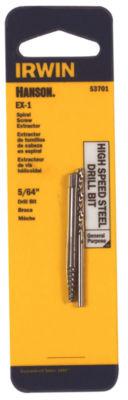 Irwin Hanson 53701 5/64IN Spiral Screw Extractor &Drill Bit Set