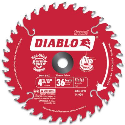 Diablo D0436X 4-3/8IN Hi-Density 36 Tooth Diablo Cordless Trim Saw Blade