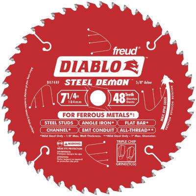 Diablo D0748F 7-1/4IN 48 Tpi Ferrous Metal CuttingCircular Saw Blade