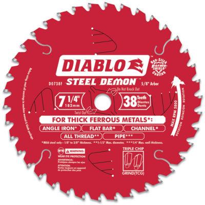 "Diablo D0738F 7-1/2"" 38T Steel Demonª Ferrous Metal Cutting Circular Blade"""