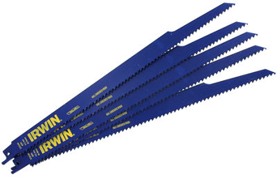 "Irwin 372156P5 12"" Cobalt 6 Tpi Reciprocating SawBlade Pack 5 Count"""
