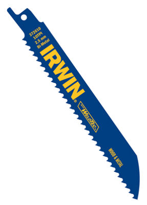 "Irwin 372610P5 6"" 10 Tpi Reciprocating Blade Pack5 Count"""