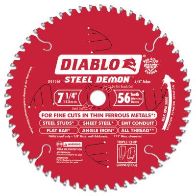 Diablo D0756F 7-1/4IN 56T Diablos Steel Demon Ferrous Metal Circular Saw