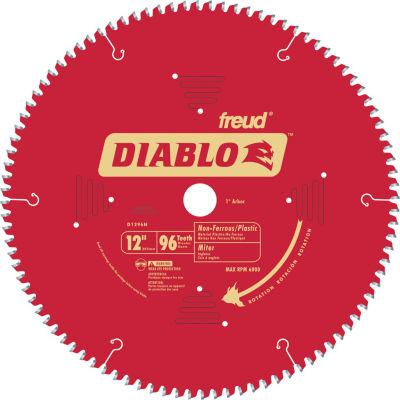 """Diablo D1296N 12"""" 96T Non-Ferrous & Plastic Chop/Slide Miter Saw Blade"""