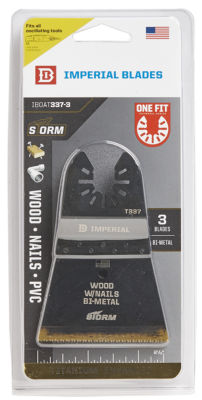 Imperial Blades Llc Iboat337-3 2-1/2IN One Fit Wood With Nails Bm Tin Storm Blade 3 Count