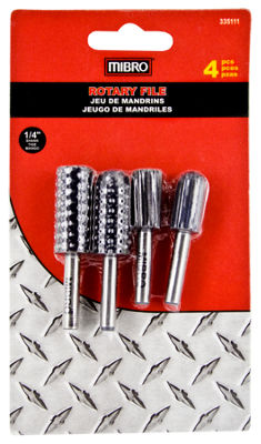 "Mibro 335111 4 Piece 1/4"" Rotary File Set"""