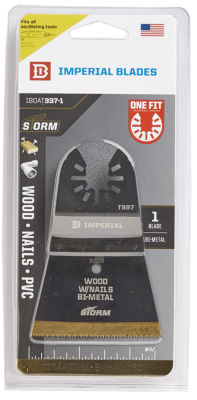 "Imperial Blades Llc Iboat337-1 2-1/2"" One Fit WoodWith Nails Bm Tin Storm Blade"""