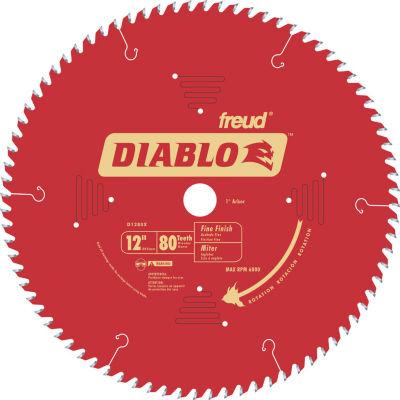 "Diablo D1280X 12"" 80T Diabloª Fine Finish Work Chop/Slide Miter Saw Blade"""