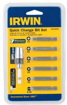 Irwin 3057003Ds 7 Piece Quick Change Bit Set