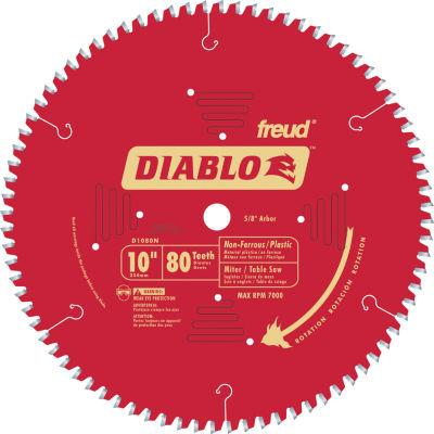 """Diablo D1080N 10"""" 80T Diabloª Non-Ferrous & Plastic Table/Chop/Slide Miter"""""""