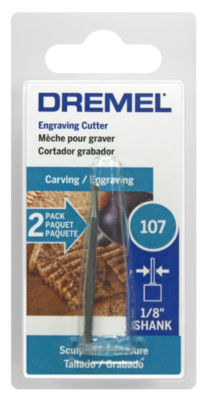 Dremel 107-2 3/32IN High Speed Engraving Cutter 2Count