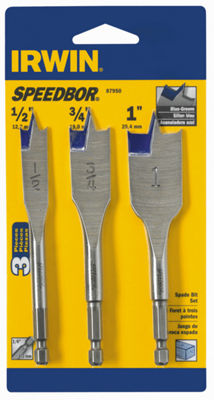 "Irwin 87950 4"" Blue Groove Speedbor Spade Bit Set3 Count"""