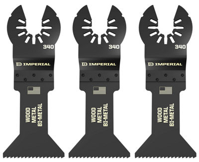 "Imperial Blades Llc Iboa340-3 1-3/4"" One Fit Universal Bm Blade 3 Count"""