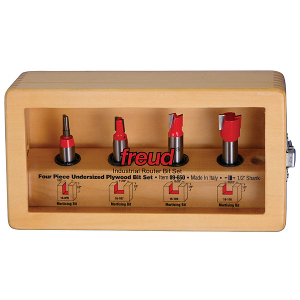 Freud 89-650 4 Piece Undersized Plywood Bit Set