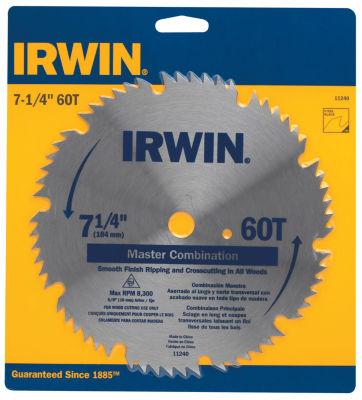 "Irwin 11240 7-1/4"" 60T Master Combination Saw Blade"