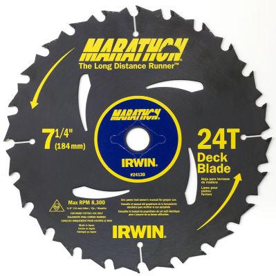 "Irwin Marathon 24130 7-1/4"" 24 T Marathon Portable Corded Circular Saw Blades"