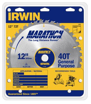Irwin Marathon 14082 12IN Marathon Miter & TableSaw Blades