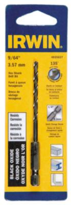 """Irwin 4935637 9/64"""" X 3-3/16"""" Steel Hex Shank Drill Bit"""