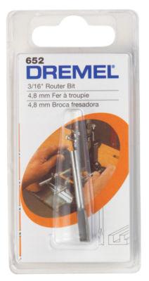 "Dremel 652 3/16"" Straight Router Bit"