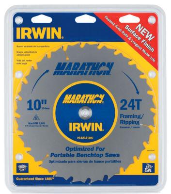 """Irwin Marathon 14233 10"""" 24T Marathon Miter & Table Saw Blades"""