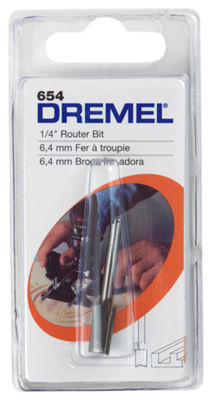 Dremel 654 1/4IN Straight Router Bit