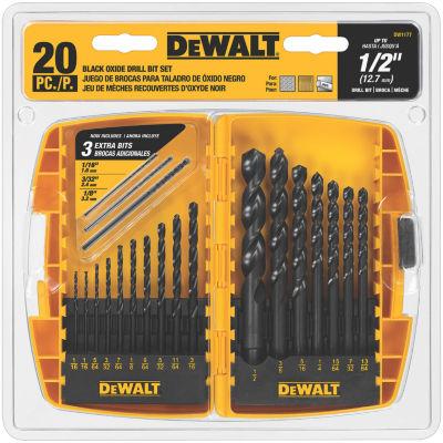 Dewalt Dw1177 20 Piece Black Oxide Drill Bit Set