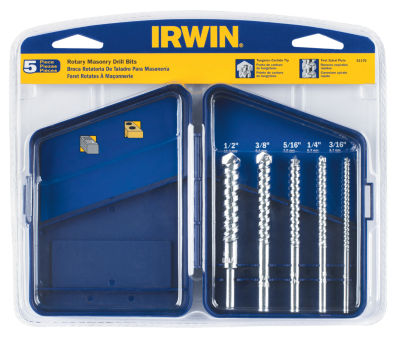Irwin 61170 Carbide Tipped Rotary Masonry Bit Set5 Count