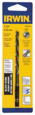 "Irwin 4935640 7/32"" High Speed Steel Black Oxide Hex Shank Drill Bit"