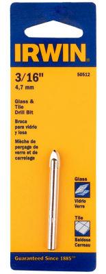 "Irwin 50512 3/16"" Glass & Tile Bit"
