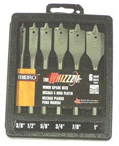 Mibro 476940 6 Piece The Whizzz Spade Wood Bit Set