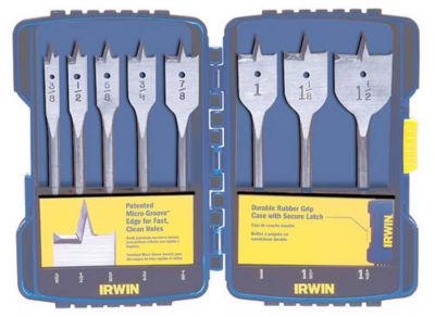 Irwin Speedbor 341008 8 Piece Set Speedbor¨ FlatWood Boring Drill Bits