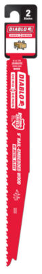"""Diablo Ds0912Bw2 9"""" 6/12 Tpi Wood Cutting Reciprocating Saw Blades 2 Count"""