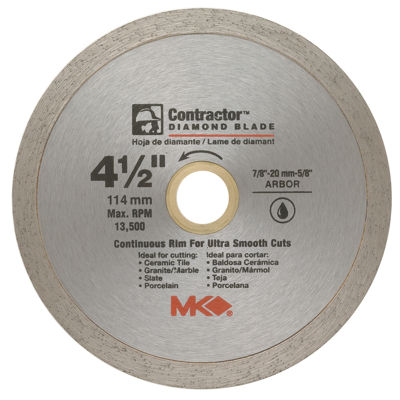 "Mk Diamond 167028 4-1/2"" Contractor Diamond Blade"