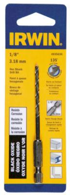 """Irwin 4935636 1/8"""" X 3-1/2"""" Steel Hex Shank Drill Bit"""