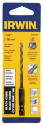 """Irwin 4935635 7/64"""" X 3-7/16"""" Steel Hex Shank Drill Bit"""