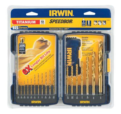 Irwin 3018010 Titanium Nitride Turbomax Drill Bit 18 Piece Set