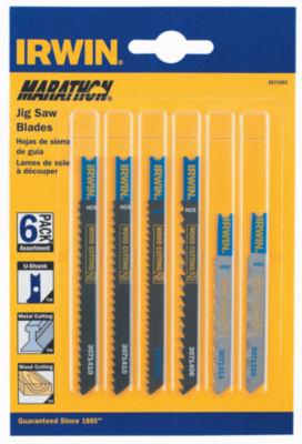 Irwin Marathon 3071001 U-Shank Jig Saw Blades 6 Count